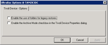 Figure 3 - Tivoli Device Options
